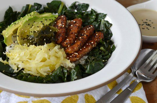 ... Maple-Glazed Tempeh & Tahini-Miso Dressing — Recipes from The Kitchn