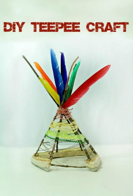 This DIY teepee craft is the perfect way to teach your kids about the Native American culture here in the US.  It's easy to make & only needs a few supplies.