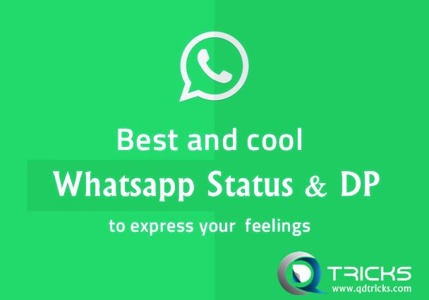 Best WhatsApp Status With Whatsapp DP Quotes 2015 - http://www.qdtricks.com/cool-funny-best-whatsapp-status-love/