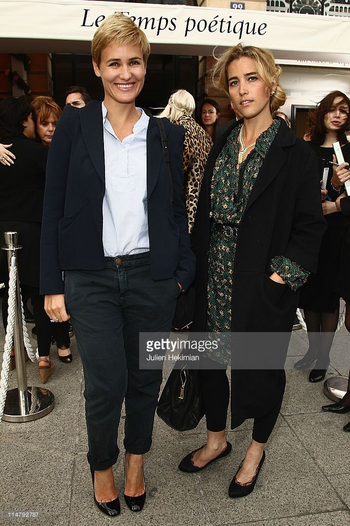 Photo d'actualité : Judith Godreche and Vahina Giocante attend the...