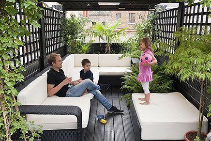 Kleine dakterras loungeset