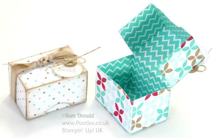 POOTLES Stampin' Up! UK Adorable Mini Box Tutorial