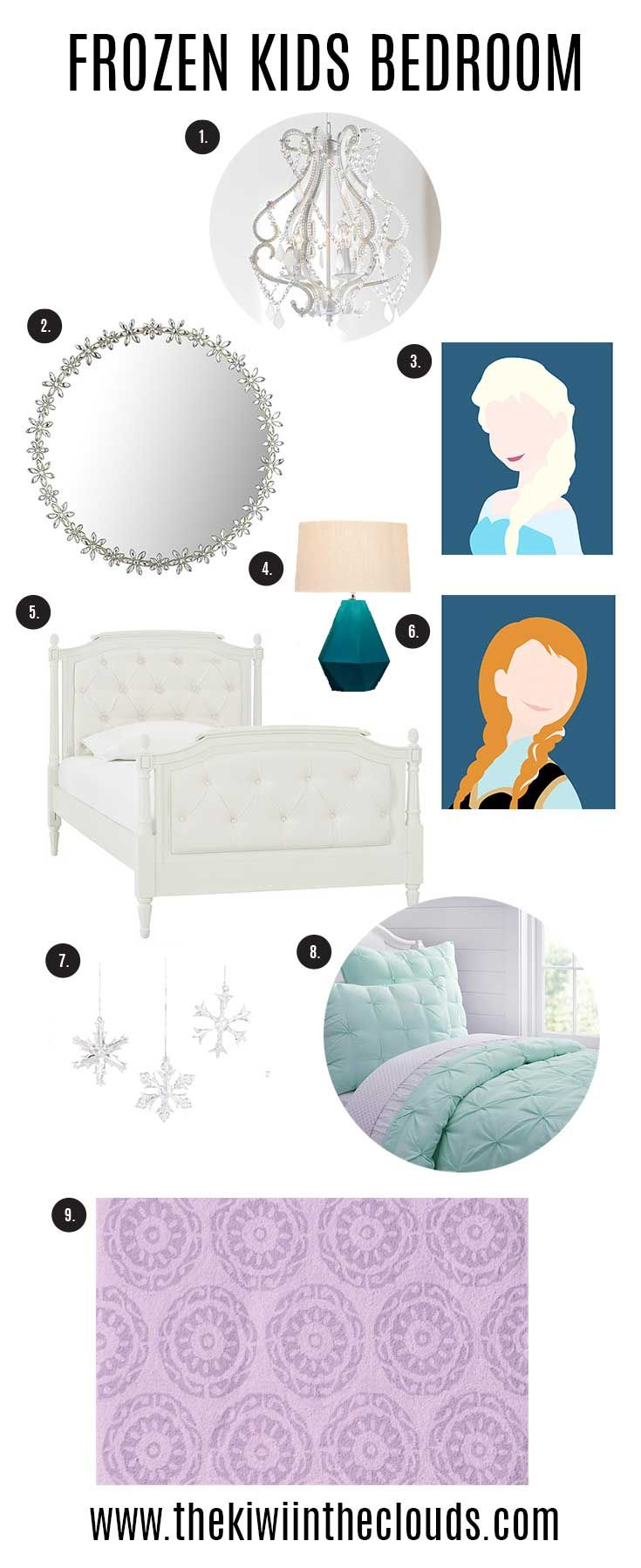 Frozen inspired bedroom - Frozen Inspired Bedroom