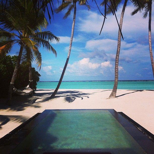 Ny ö och denna gång en poolvilla med egen strand. På #one&only #reethirah #maldiverna här kan man verkligen njuta av barfotalyx #jordenruntmedving #ving #vingresor Läs mer om Maldiverna på http://www.ving.se/maldiverna/maldiverna
