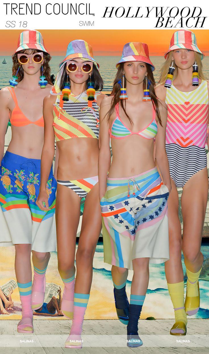 SS18 SWIM TRENDS : HOLLYWOOD BEACH | trend | Bikinis ...