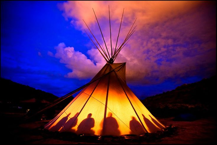 Peyote ceremonial tent