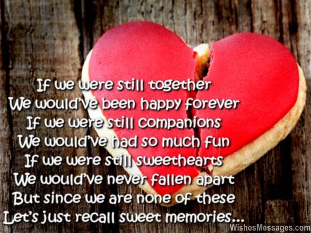 If we were still together We would've been happy forever ...