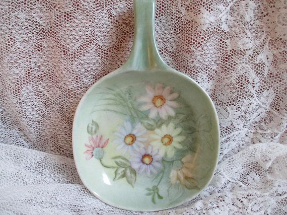 Daisies spoon rest handpainted Eckles 72 farmhouse kitchen