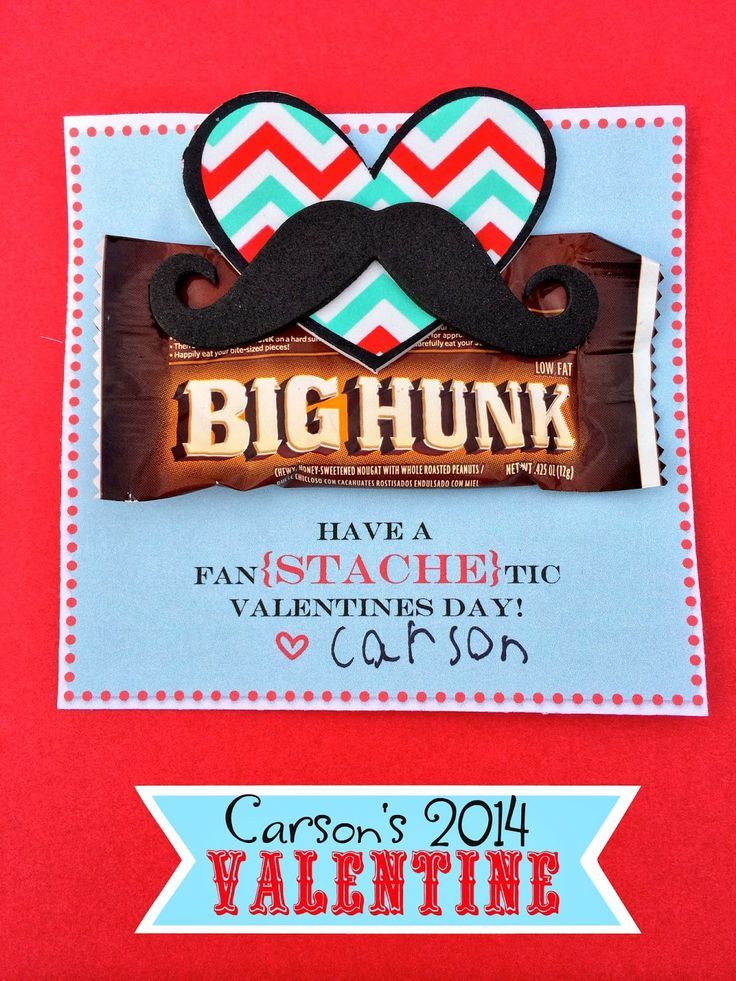 Mustache Valentine + Free Printable - From Marci Coombs Blog