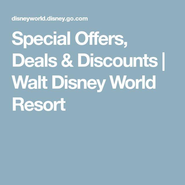 Special Offers, Deals & Discounts | Walt Disney World Resort