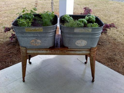 Beau Galvanized Planter | Yard Art And Porches | Pinterest | Wash Tubs, Garden  And Planters