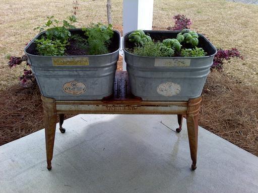 Galvanized Planter Yard Art And Porches Pinterest
