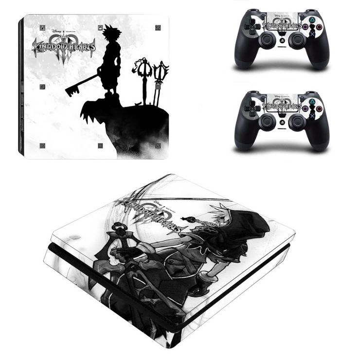 Kindom hearts Ps4 slim edition skin decal for console and 2 controllers