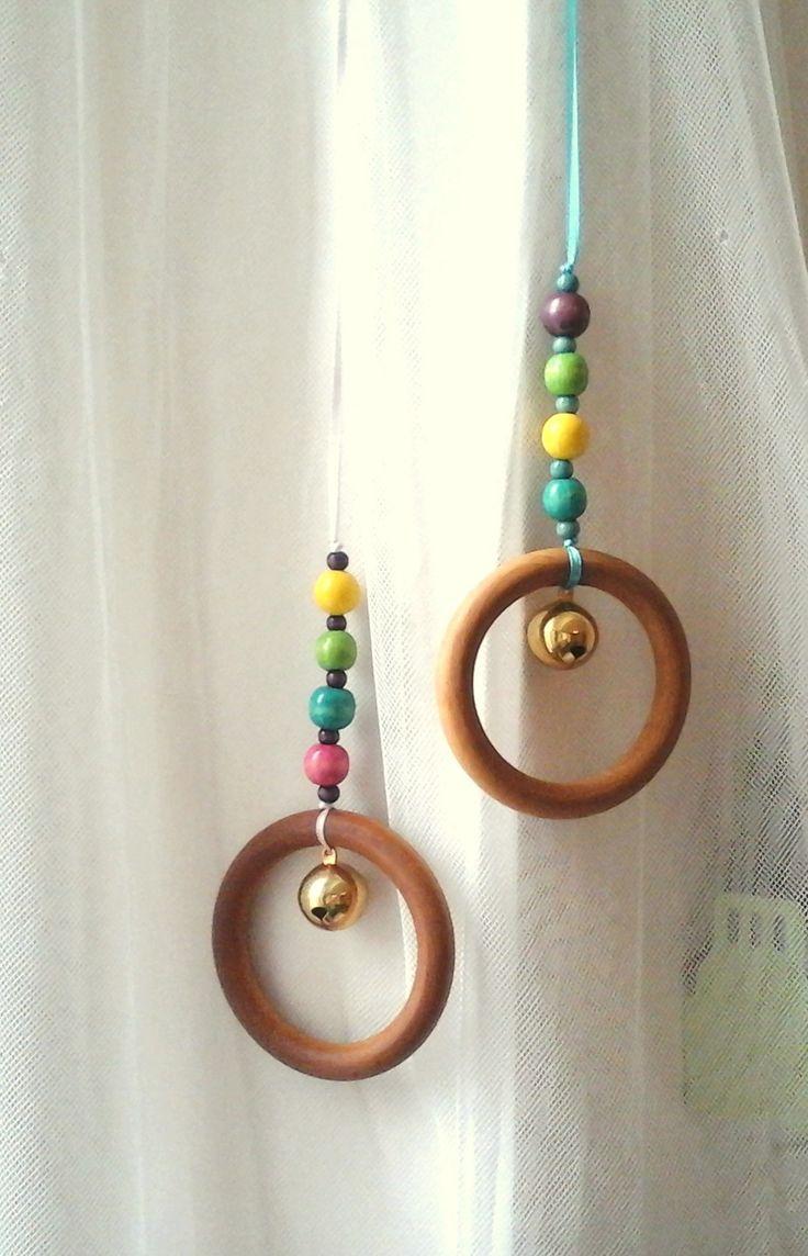 Hochet Montessori à suspendre, anneau 10 cm.