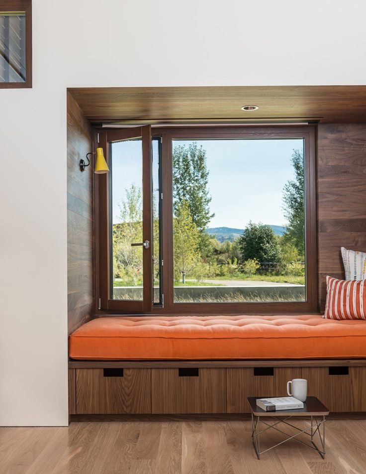 A Built-In Window Seat With Storage