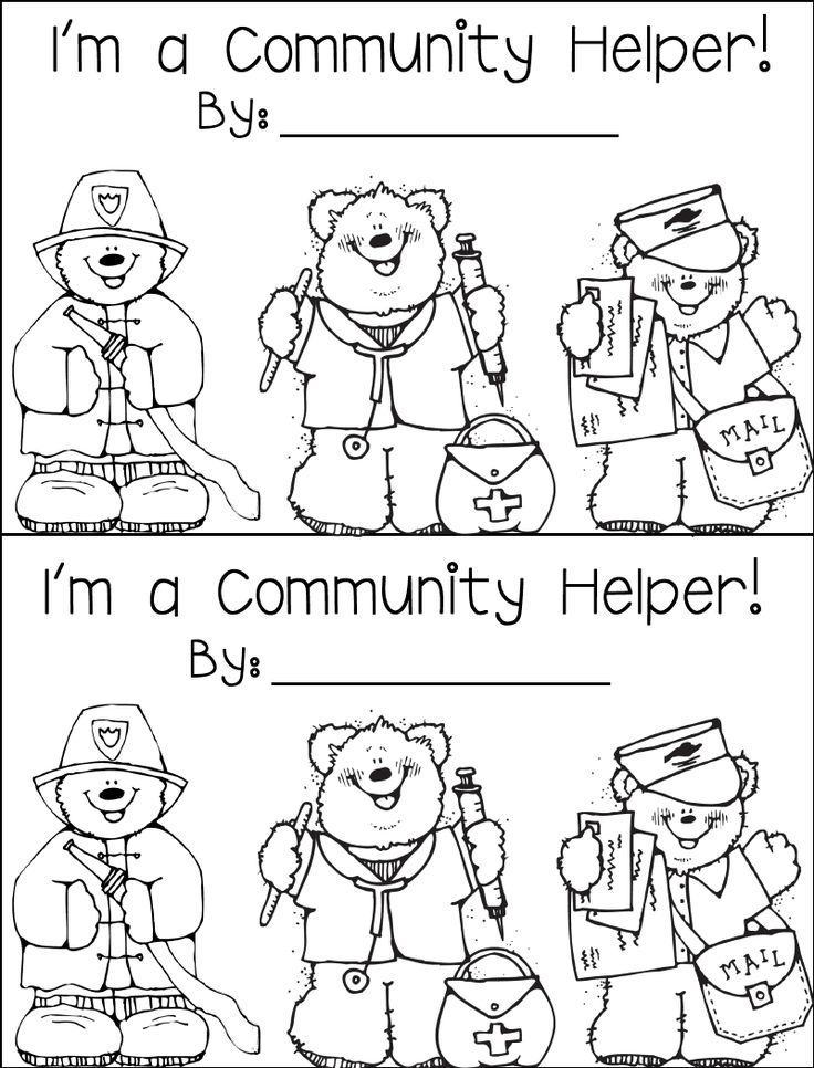 Munity Helpers Coloring Pages Crafts Coloring Pages