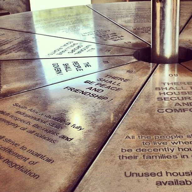 Freedom Charter in Walter Sisulu Square. #kliptown #soweto #johannesburg #instagram #urbangenesis