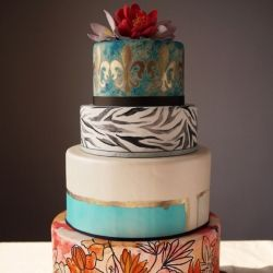 Hand-Painted Cakes. (via Charm City Cakes)Hands Painting Cake, Sophisticated Brides, Charms Cities, Charm City Cakes, Funky Cake, Wedding Blog, Cities Cake, Wedding Cakes, Awesome Cake