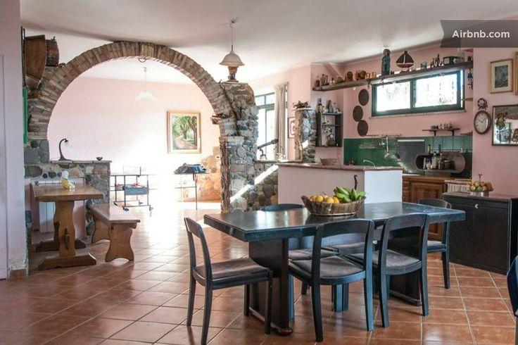 Villa Panorama Etna & Taormina a Calatabiano.  Living room, Kitchen