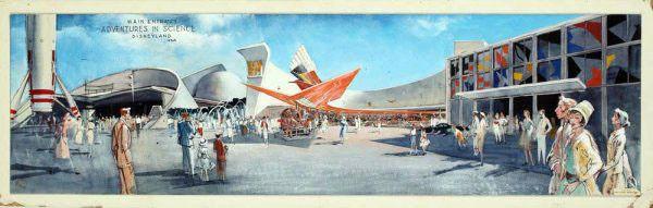 Adventures in Science, Tomorrowland, Disneyland - Herb Ryman