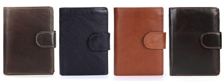 <b>MISFITS</b> Vintage Men Wallet <b>Genuine Leather</b> Short Wallets Male ...