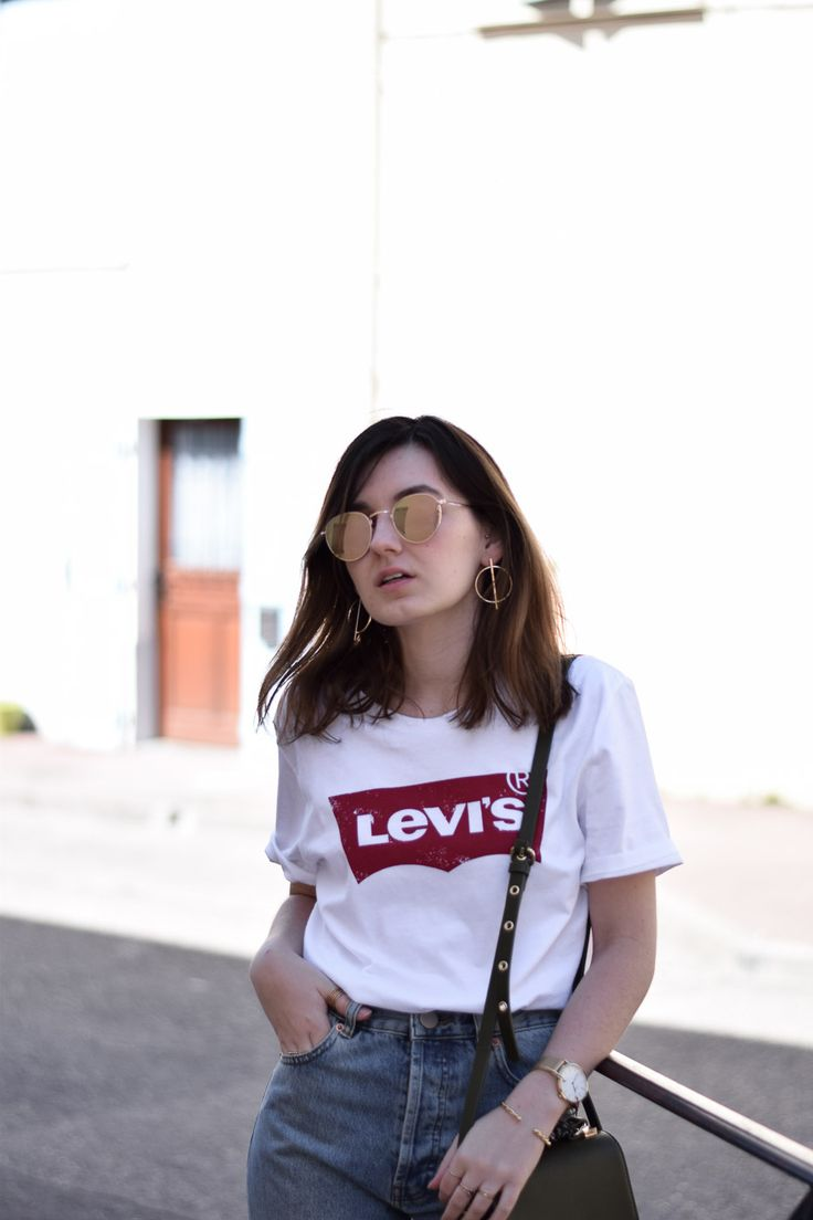 levi's tee-shirt jean fringe franges asos denim look