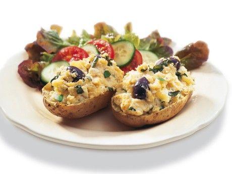 Dubbelbakad potatis med grekisk fyllning