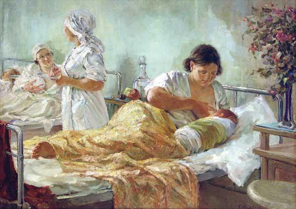 """Жарков Б.С. """"Родился новый человек"""". 1938 г. B.Zharkov. A new man has been born. 1938"""