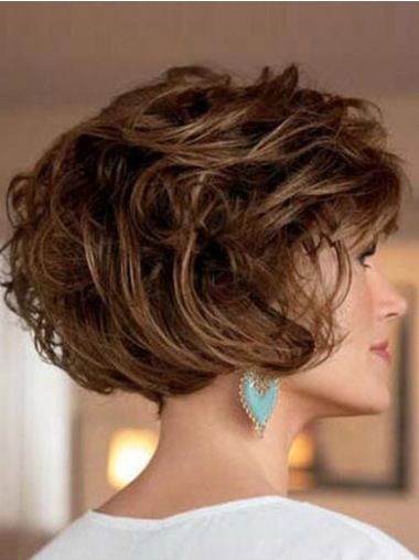 Perfect Brown Wavy Short Classic Wigs Hair Cuts Short