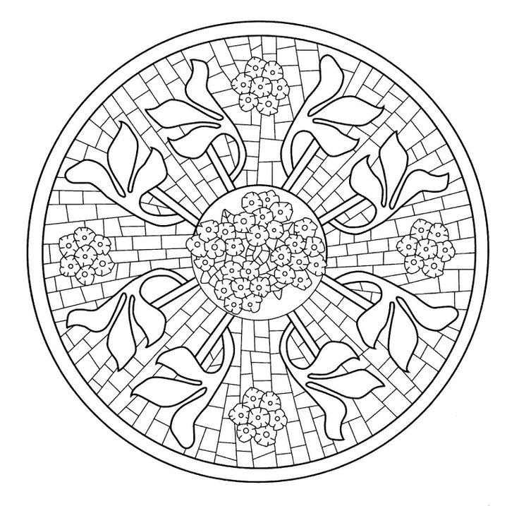 22 best mosaicos images on Pinterest | Mandalas, Diseños en mosaico ...