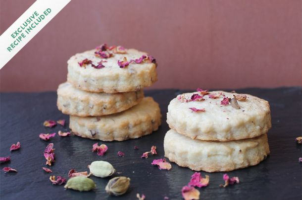 These beautiful little shortbread cookies are called Nankhatai, and are flavoured with cardamom and rose water. Recipe included (via Jamie Oliver).