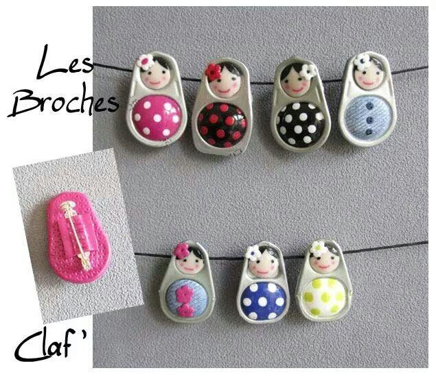 Mini-spille Matrioska realizzate con linguette di lattine :D