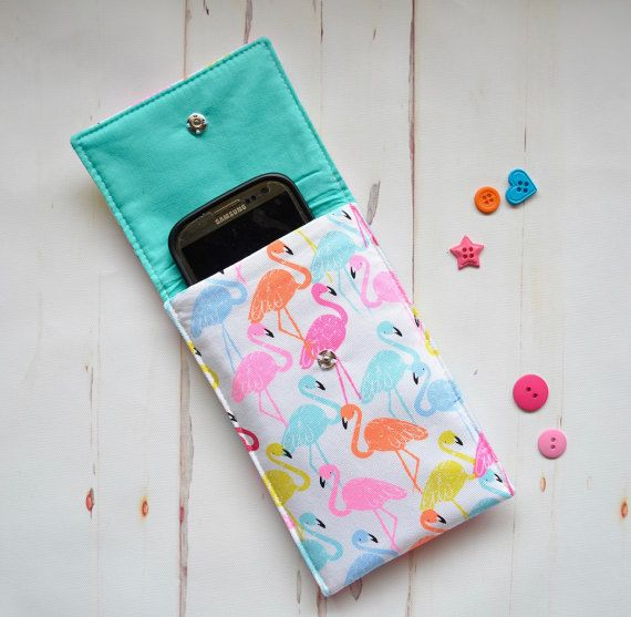 Flamingo phone case padded phone cover ipod by RobynFayeDesigns