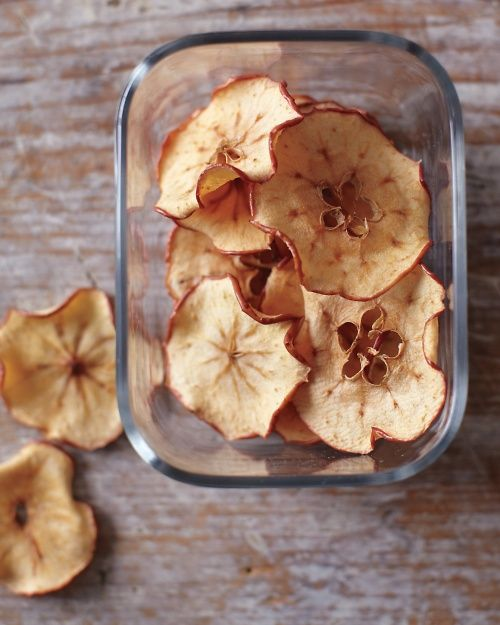 Easy Apple Chips: Sweeter apples, such as Gala, Honeycrisp, and Pink Lady, really shine in this snack, Wholeliving.com