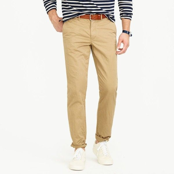 J.Crew Broken-In Chino In 770 Fit ($68) ❤ liked on Polyvore featuring men's fashion, men's clothing, men's pants, men's casual pants, mens chinos pants, mens zip off pants, j crew mens pants, mens zipper pants and mens slim fit pants