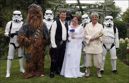 OMGosh!  I want storm troopers at my wedding that I'm never gonna have...How cool is that???