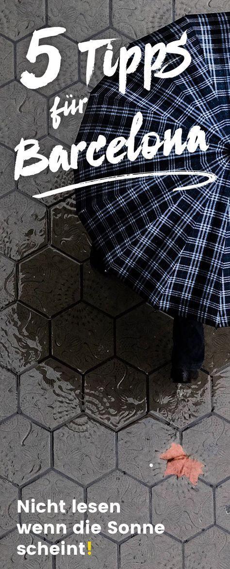 Barcelona, die Katalanische Metropole im Regen: Was man nicht ändern kann ist d…