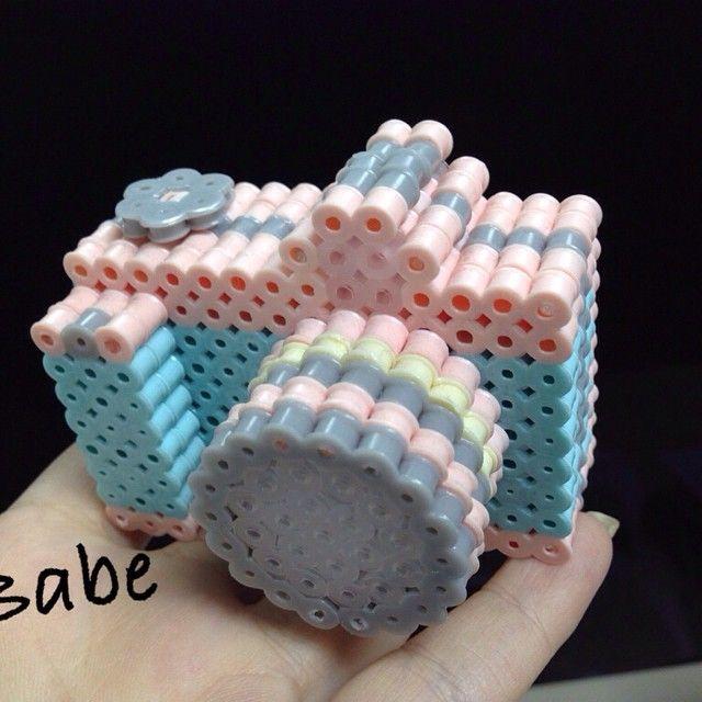 3D Camera hama perler beads by lisibeibei