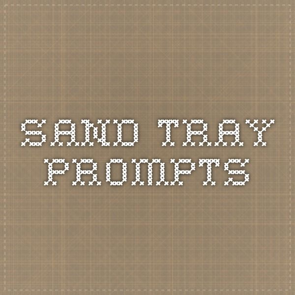 sand tray prompts