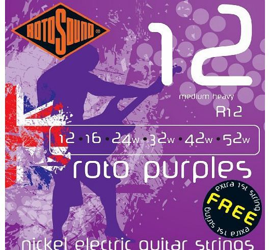 Rotosound Nickel Medium/Heavy Gauge Electric Guitar Strings (12 16 24 32 42 52) Need some advice? Looking for someone to answer your questions ? Our Salesmen can give you all the technical information for this product. Call them right now! (Barcode EAN = 0686194000530). http://www.comparestoreprices.co.uk/bass-guitars/rotosound-nickel-medium-heavy-gauge-electric-guitar-strings-12-16-24-32-42-52-.asp