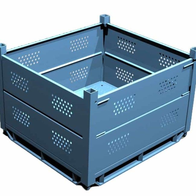 ITEM # 163 – PERFORATED SOLID SHEET METAL HANDLING BINS SKU: R2GW-01. Category: New Bins / Baskets.  We fabricate all the standard Ford SMF-styles of containers. Please contact us with your standard or custom requirements.