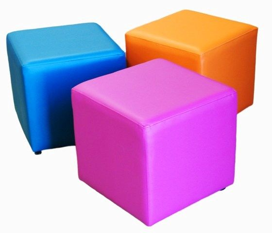 Cube ottomans - library seating