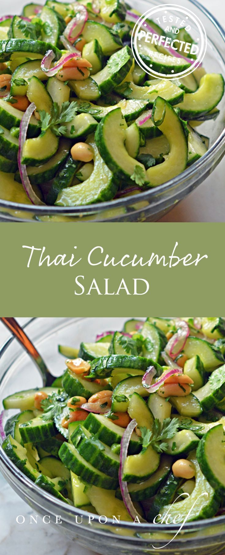 Thai Cucumber Salad with Peanuts #saladrecipes #thaisalad