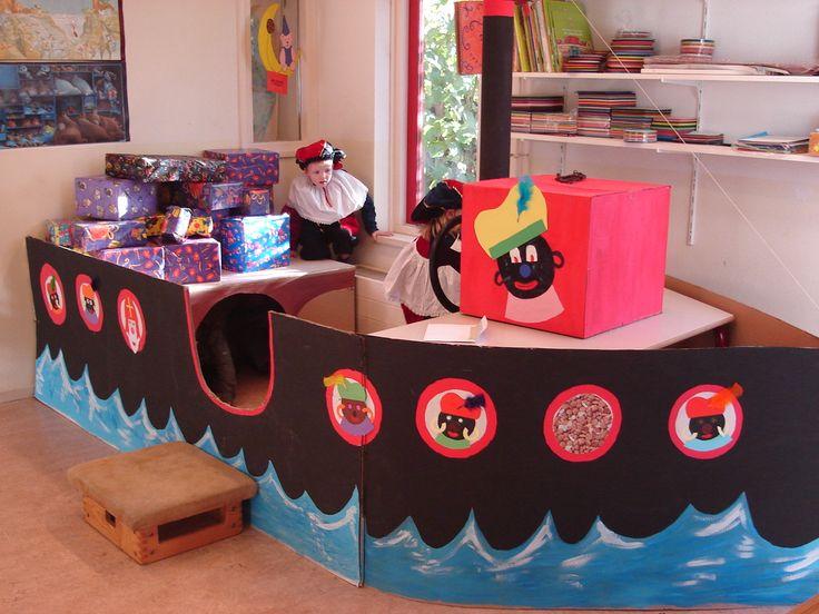 De pakjesboot in de kleuterklas: denk je eens in wat een geweldige avonturen je hierin kunt spelen!