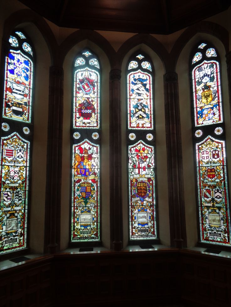 Stained glass windows in the Guildhall Stained glass