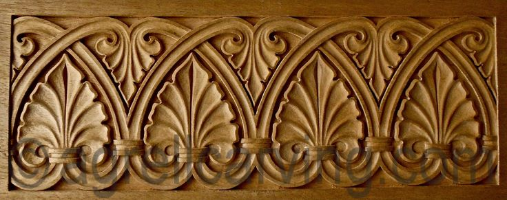 Romanesque panel - originally in stone - from the 12th Century - hand carved in wood by Agrell Architectural Carving