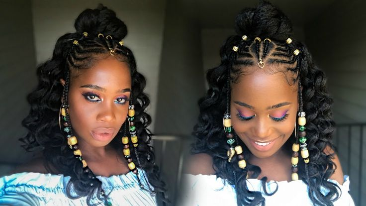 Fulani Inspired Braids with Beads feat Her Given Hair (Alicia Keys inspired)  [Video] - https://blackhairinformation.com/video-gallery/fulani-inspired-braids-beads-feat-given-hair-alicia-keys-inspired-video/