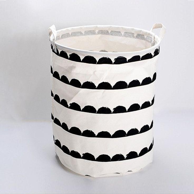 Большая Емкость полосатый Корона Белье Хранения ведра Буквы корзина для белья для одежды игрушки баррелей хранения 40x50 см купить на AliExpress