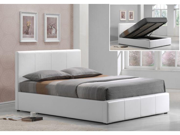 Polsterbett mit Bettkasten Tremplin - 180x200cm - Weiß