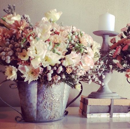 Love our pretty planters and candlesticks #decorhire #weddinginspiration #moidecor